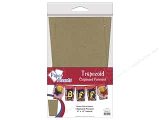 Chipboard Pennants 8 x 12 in. Trapezoid 7 pc. Kraft