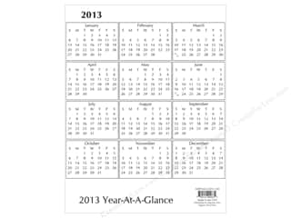 2013 Crafties - Best Quilting Supply: Paper Accents Calendar 8.5x11 White 2013 (25 piece)