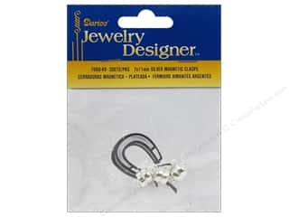 Darice JD Clasps Magnetic 7x11mm Silver 3pc