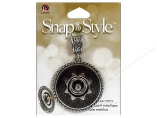 Cousin Snap In Style Base Pendant Mtl Round Black
