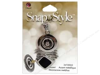 Snaps Cousin Snap in Style Snap: Cousin Snap In Style Base Pendant Metal Abstract