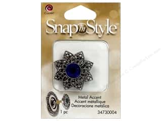 Cousin Snap In Style Accent Mtl Flower Filigree 2