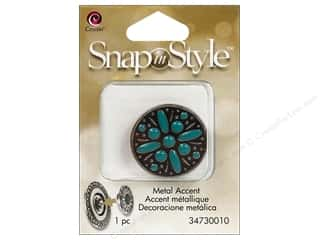 Clearance Cousin Snap In Style Accent: Cousin Snap In Style Accent Mtl Turquoise Brown