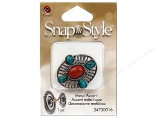 Compass Clearance Crafts: Cousin Snap In Style Accent Metal Oval Cabochon
