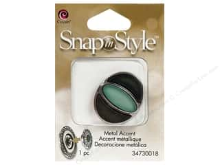 Charms Cousin Snap In Style Accent: Cousin Snap In Style Accent Metal Eye Teal