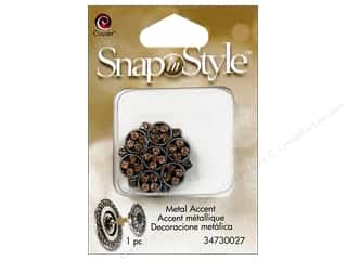 Snaps Cousin Snap in Style Snap: Cousin Snap In Style Accent Metal Flower Crystal