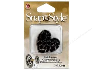 Hair Cousin Snap In Style Base: Cousin Snap In Style Accent Metal Heart Print
