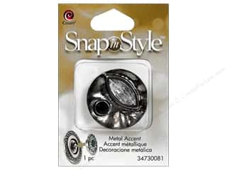 Snaps Cousin Snap in Style Snap: Cousin Snap In Style Accent Metal Facet Abstract