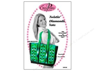 "Purses 14"": Eazy Peazy Twistin Diamonds Tote Pattern"