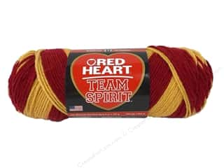 worsted weight yarn: Red Heart Team Spirit Yarn #0960 Burgundy/Gold