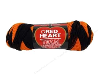 fingering yarn: Red Heart Team Spirit Yarn #0972 Orange/Black