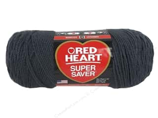 Red Heart Super Saver Yarn #3950 Charcoal 7 oz.