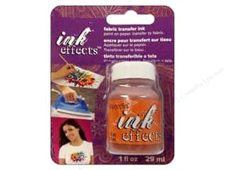 Weekly Specials Glass Painting: Decoart Ink Effects Fabric Transfer Ink 1 oz. Orange