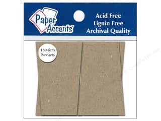 "Paper Accents Chipboard Pennants Trapezoid 1.25""x 2"" Micro Natural 18pc"
