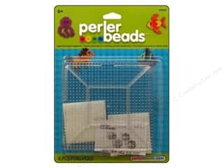 Perler: Perler Fused Bead Pegboards Square Large Clear Replacement