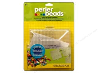 Perler $4 - $6: Perler Fused Bead Pegboards Square Large Clear