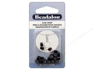 Beadalon Hair Crimps 5mm Black 18pc