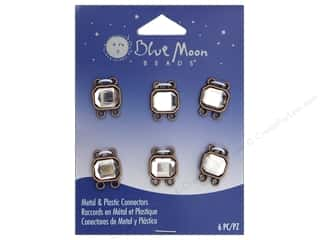 Blue Moon Beads Connectors 6 pc. Copper with Rhinestones