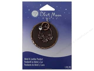 jump rings: Blue Moon Pendant Ranch Mtl/Lthr Flower Ring OxCop