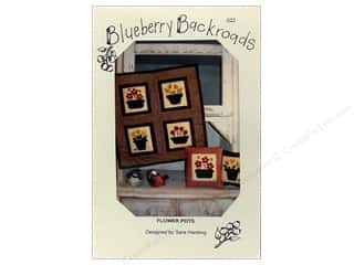 Blueberry Backroads Needlework Patterns: Blueberry Backroads Flower Pots Pattern