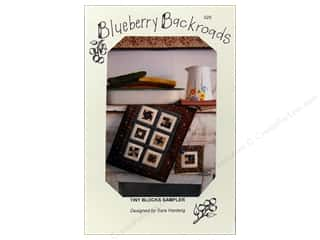 Blueberry Backroads $8 - $9: Blueberry Backroads Tiny Blocks Sampler Pattern