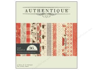 Authentique Paper Bundle 6 x 6 in. Carefree 36pc (3 sheets)