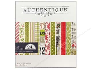 Authentique Paper Bundle 6 x 6 in. Festive 24pc