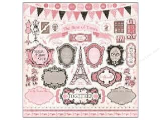 Carta Bella Stickers: Carta Bella Sticker 12 x 12 in. Paris Girl Element (15 pieces)
