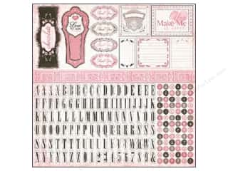 Best of 2012 ABC & 123: Carta Bella Sticker 12 x 12 in. Paris Girl Alphabet (15 pieces)