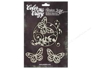 Petaloo Chipboard Embellishments: Petaloo Color Me Crazy Chipboard Butterflies