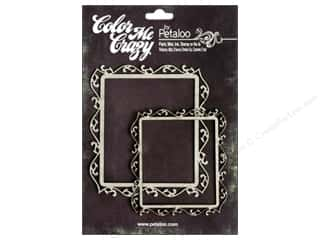 Petaloo Color Me Crazy Chipboard Fancy Frames