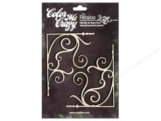 Petaloo Chipboard Embellishments: Petaloo Color Me Crazy Chipboard Fancy Corners Small