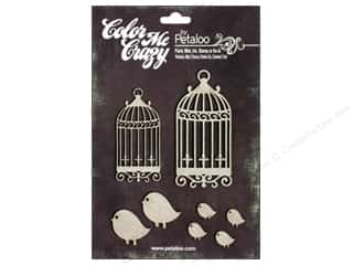 Petaloo Chipboard Embellishments: Petaloo Color Me Crazy Chipboard Birdhouses
