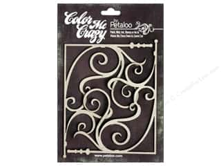 Petaloo Chipboard Embellishments: Petaloo Color Me Crazy Chipboard Fancy Corners Large