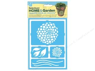 Decoart Clearance Crafts: DecoArt Stencil Patio Paint Home & Garden Stick On Zinnias