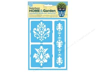 Gardening & Patio Home Decor: DecoArt Stencil Patio Paint Home & Garden Stick On Elegant Damask