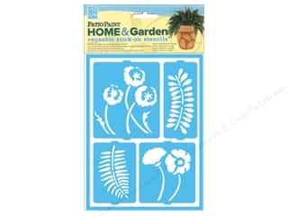 Decoart Clearance Crafts: DecoArt Stencil Patio Paint Home & Garden Stick On Botanical Garden