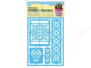 DecoArt Stencil Patio Paint Stick On Latin Inspir