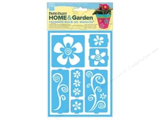 DecoArt Stencil Patio Paint Stick On Funky Flowers