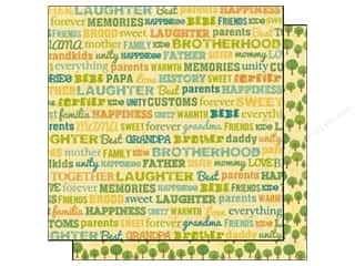 Best Creation Family: Best Creation 12 x 12 in. Paper Home Memories Collection Happy Family Word (25 pieces)