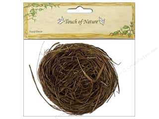 "Outdoors Basic Components: Midwest Design Bird Nest 4"" Wild Grass 1pc"