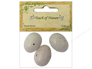 Midwest Design Bird Egg Speckled 1&quot; White/Bwn 3pc