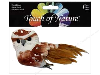 "Midwest Design Birds Feather Owl 3"" Brown/Red"