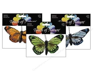 "Midwest Design Imports Hair Clips: Midwest Design Butterfly 4"" Feather Clip Assorted 1pc"