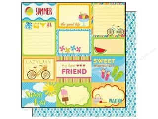 Best Creation Printed Cardstock: Best Creation 12 x 12 in. Paper Sunny Days Collection Sunny Day Tags (25 pieces)