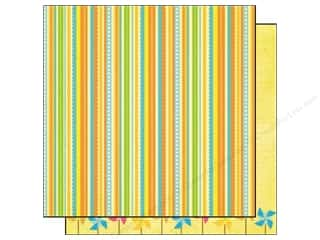 Best Creation Printed Cardstock: Best Creation 12 x 12 in. Paper Sunny Days Collection Mini Stripes (25 pieces)