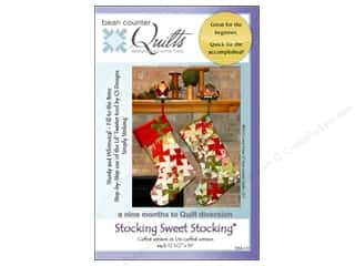 Bean Counter Quilts: Bean Counter Quilts Stocking Sweet Stocking Pattern