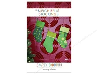 Christmas New Year: Empty Bobbin Sewing Studio Sleigh Bells Stockings Pattern