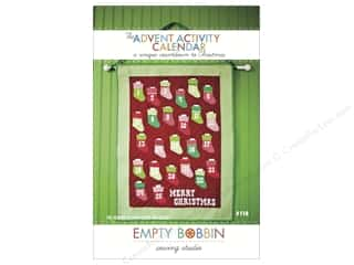 Calendars ABC & 123: Empty Bobbin Sewing Studio Advent Activity Calendar Pattern