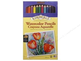 Stenciling Back to School: General's Kimberly Water Color Pencil 12 pc